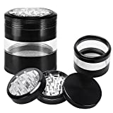 iRainy Zinc Spice Weed Herb Grinder with Pollen Catcher- Large 2.5 Inch 4 ...
