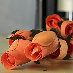 Factory Direct Craft Wooden Rose Bud Stems | 32 Handmade Stems So Realistic It is Hard to Believe They are Made from Thin Shaved Wood! 2