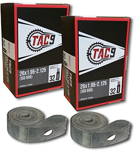 TAC-9 Bike Tubes, 26 x 1.95-2.125