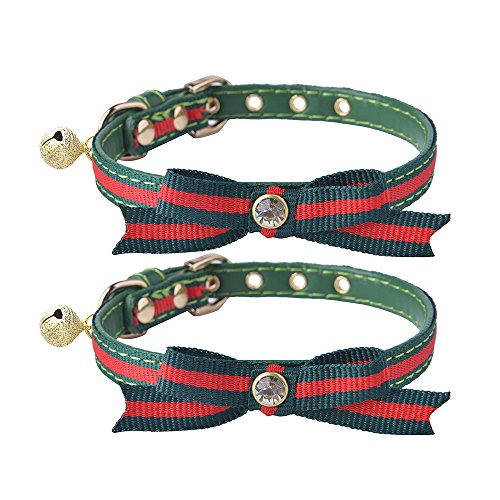51yCJbWLznL - 2 pcs/set Adjustable Breakaway Cat Collar with Bell Charm