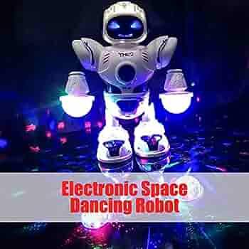 لعبة روبوت الراقص تدور 360 درجة رجل فضائي دو ار مع ضوء ملون للرقص لعبة إلكترونية تعليمية للأطفال الرضع الأولاد والبنات Amazon Ae