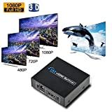 Hdmi Switch Splitter - 4K HDMI Cable Splitter 1 in 2 out HD Signal Splitter, 2 Ports Powered Hdmi Super Mini Splitter for Full HD 1080P with 3D Capability, Super FUN for HDTV, Game Consoles, PC & More