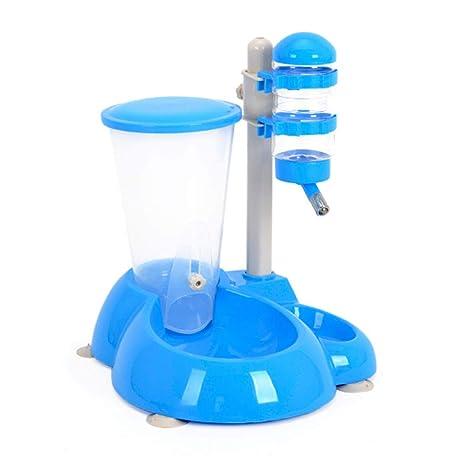 XUELIHUA DisPensador de Agua para Mascotas, Gato y Perro disPensador Fuente de alimentación alimentador Bowl