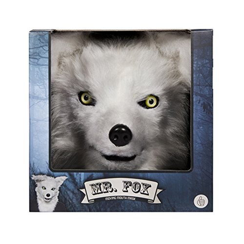 Thumbsup UK, Mr. Fox Mask, Moving Mouth, Plush Faux Fur