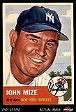 1953 Topps # 77 Johnny Mize New York Yankees (Baseball Card) Dean's Cards 2 - GOOD Yankees
