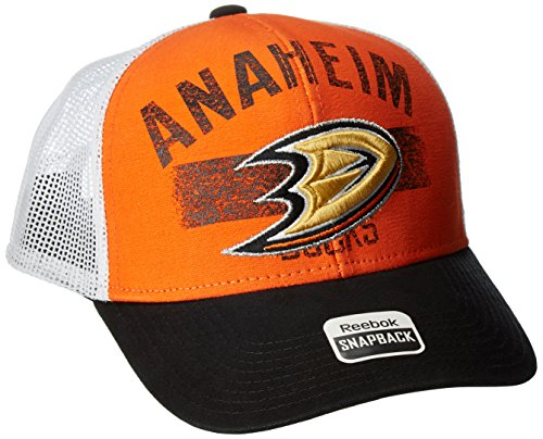 NHL Anaheim Ducks Men's SP17 City Name Trucker Cap, Orange, One Size]()