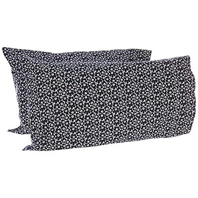 Marimekko Pikkuinen Unikko Pillowcase Pair, Standard Cases, Black: Home & Kitchen