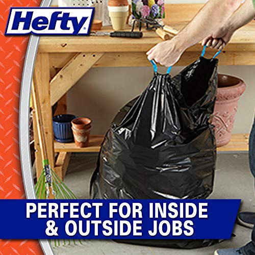 Hefty Strong Multipurpose Large Black Garbage Bags - 30 Gallon, 74 Count