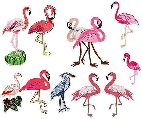 10/pcs pegatinas de realista de flamencos patr/ón DIY ropa parches bordado Sew parches 10/estilos ropa accesorios para hombre pantalones vaqueros ropa bolsas