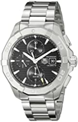 TAG Heuer Men's CAY2110.BA0925 Analog Display Swiss Automatic Silver Watch