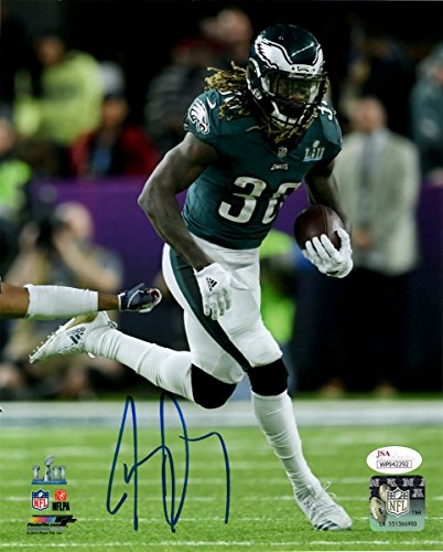 Jay Ajayi Super Bowl LII 52 Eagles Autographed/Signed 8x10 Photo JSA 135501 by Best Authentics