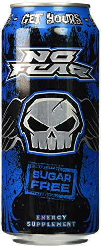 No Fear Energy, Sugar Free Original, 16 Ounce Cans (Pack of 12)