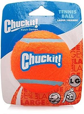 Pelota de tenis grande Chuckit! de 7,3 cm para perros. 1 por ...