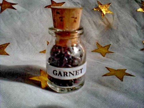 GARNET gemstones ViAl~Stone of Commitment~Root CHAKRA ()