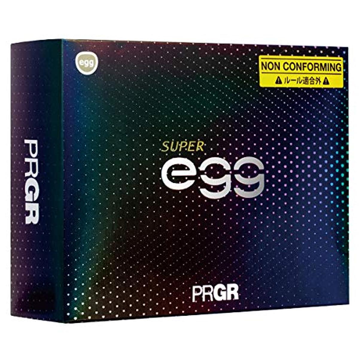 [해외] PRGR(프로기어) 골프 볼 SUPEREGG 19NEW SUPEREGG BALL DZ GB1031 펄 화이트