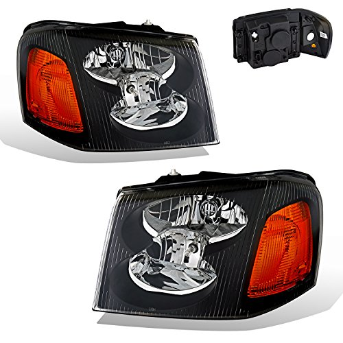 SPPC Black Headlights For GMC Envoy - - Light Adjusting Lens Gloss Grey