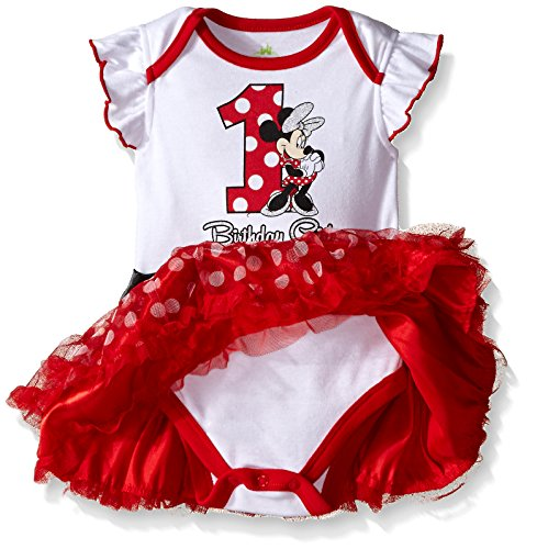 Disney Baby Girls Infant Minnie Mouse First Birthday Dress