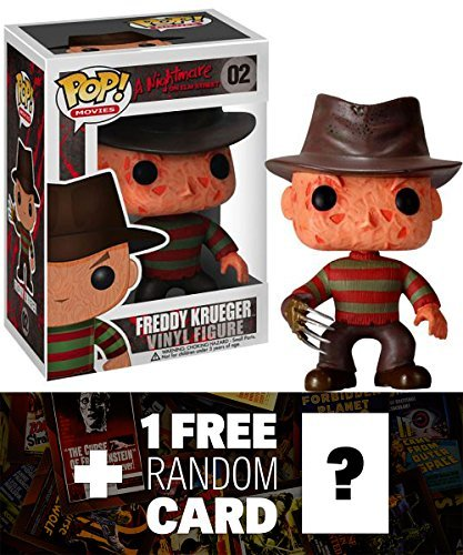 Freddy Krueger: Funko POP! Horror Movies x A Nightmare on Elm Street Vinyl Figure + 1 FREE Classic Sci-fi & Horror Movies Trading Card Bundle [22918]