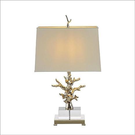 OOFWY E27 Coral Lámpara de mesa Minimalista creativo para el ...