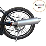 Myfreed Bicycle Exhaust System Bike Turbo Exhaust Pipe with Sound Effect Motorcycle Noise Maker Bike Turbo Pipe Exhaust Funnel System Sound Motorcycle Megaphone Sound