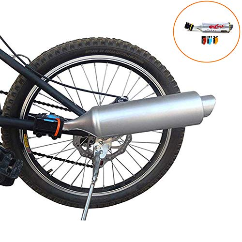 Myfreed Bicycle Exhaust System Bike Turbo Exhaust Pipe with Sound Effect Motorcycle Noise Maker Bike Turbo Pipe Exhaust Funnel System Sound Motorcycle Megaphone ()