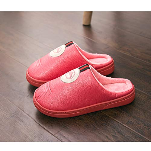 In 39 Uomo E Con Autunno Pan Red Spesso Calde Eur Inverno Donna Pink 38 Pelle Dimensioni Pu colore Per Pantofole Cotone amp;pan Fondo Antiscivolo EwCCxqZBP