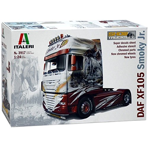 Italeri Model Kit - DAF XF105 Smoky Jr Truck - 1:24 Scale - 3917 (Daf Truck Parts compare prices)