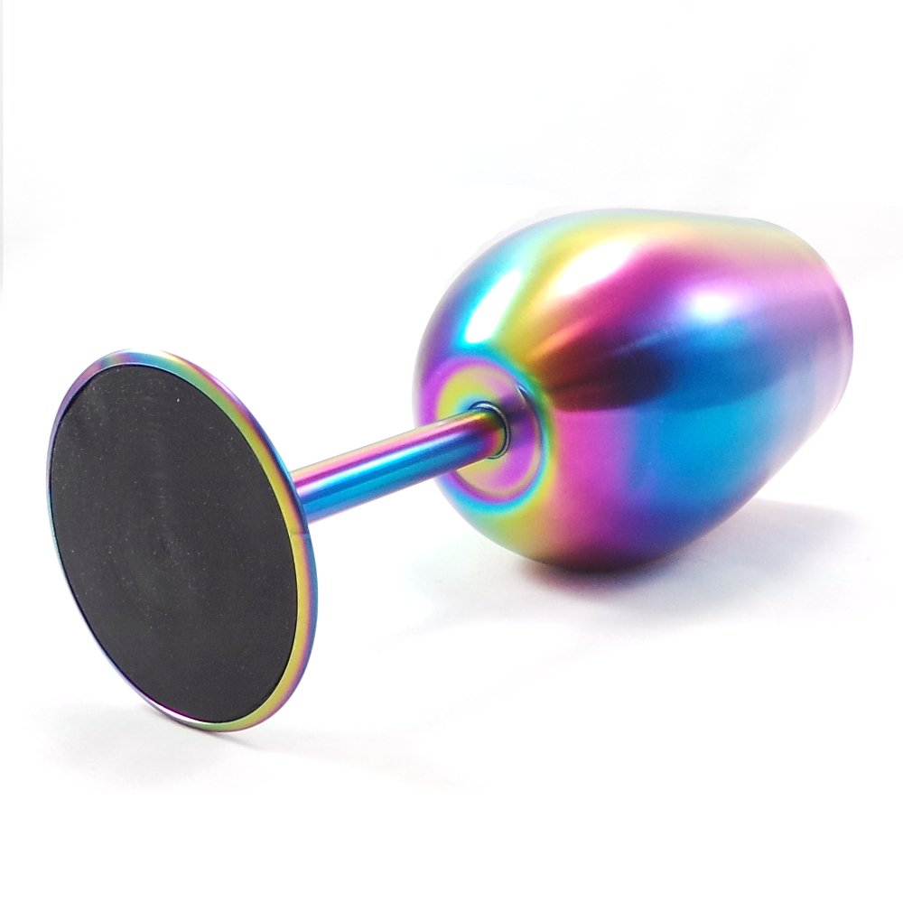 Shatterproof Stainless Steel Wine Glasses (Set of 4), Titanium Rainbow Colored Finish, Lids Included, Long Stemmed by Great Spirit Wares (Image #7)