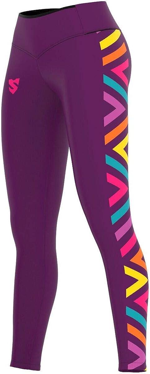 Fitness Outdoor Crossfit Prodotto nellUnione Europea SMMASH Makat Leggins Sportivi Lungo da Donna con Push Up e Vita Alta Gym Traspirante e Leggero Pantaloni Palestra Donna Yoga