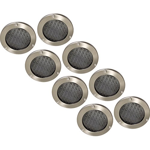 GreenLighting Solar LED In Ground Recessed Lights (Stainless Steel, 8 Pack) (Recessed Steel Panel Control Stainless)
