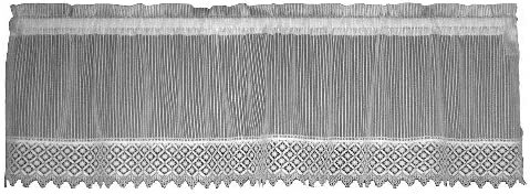 Heritage Lace Chelsea 48-Inch Wide by 14-Inch Valance with Trim, White