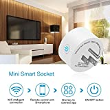 Wifi Smart Plug, Tonbux Switch Outlet Mini with Timing Function for IOS/Android, Compatible with Alexa & Google Home, No Hub Required, App Control Your Devices from Anywhere Anytime (2 Packs)