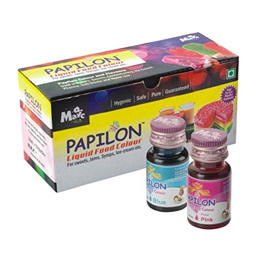 Papilon Shades of Liquid Food Color, 10 X 20 ml