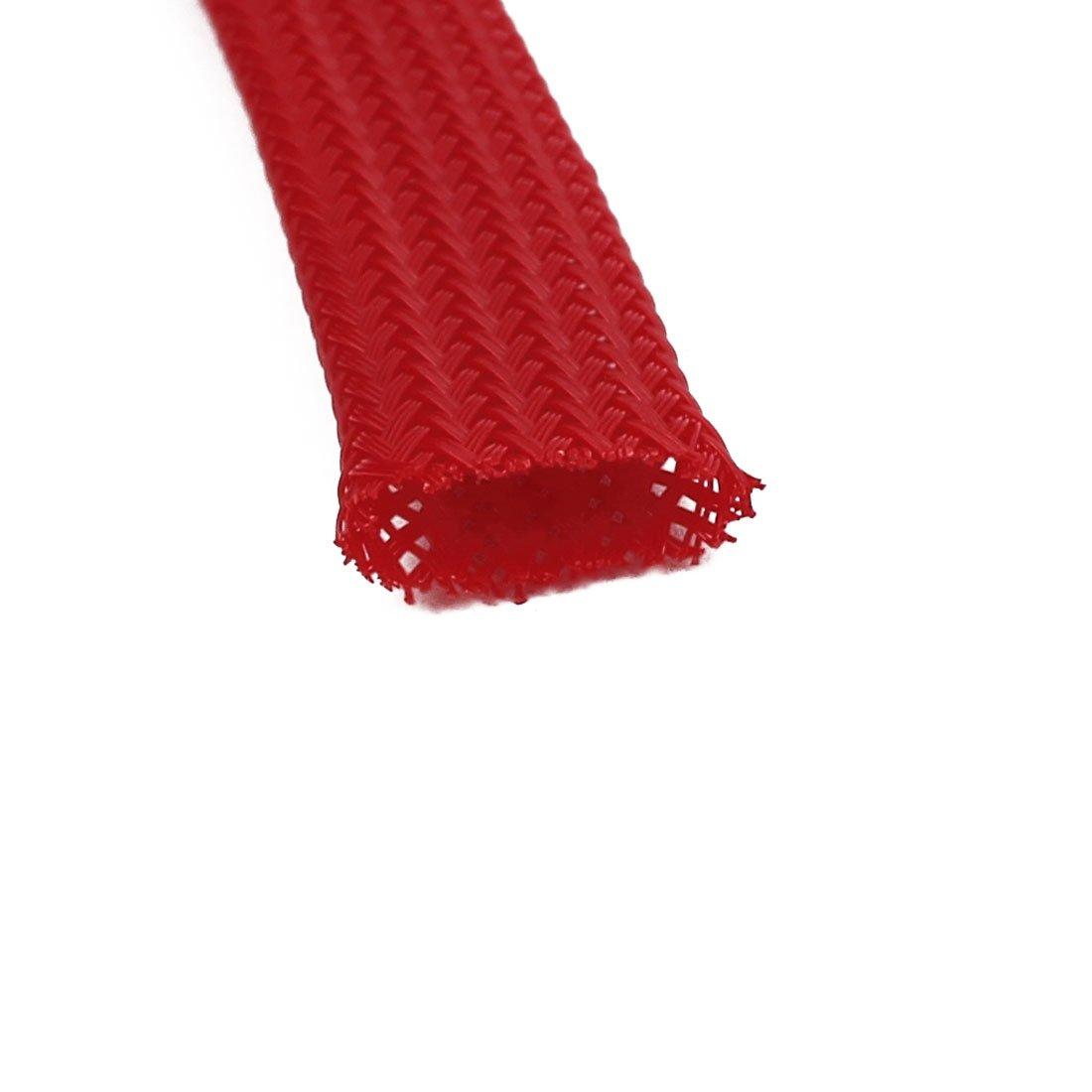 sourcingmap® 10mm Dmr Enges Geflochtene PET dehnbare Muffen Kabel ...