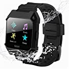 For Fitbit Ionic Replacement Bands – C2DJOY Rugged Protective Frame Case Accessory Sport Bands For Fitbit Ionic Watch Black(6.7-8.1inch)