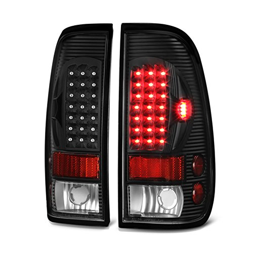 VIPMOTOZ LED Tail Light Lamp Assembly For 1997-2003 Ford F-150 & 1999-2007 Ford Superduty F-250 F-350 Pickup Truck - Matte Black Housing, Driver and Passenger Side