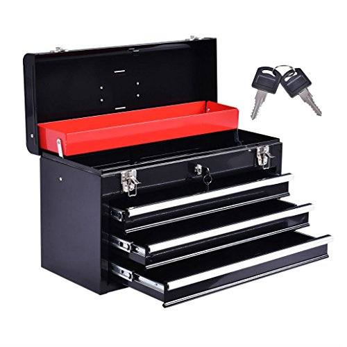 New Portable Tool Chest Box Storage Cabinet Garage Mechanic Organizer 3 Drawers by Unknown