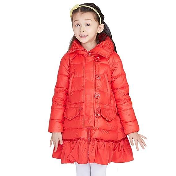 bcc018cb0 LSERVER Kids Girls Winter Long Duck Down Cute Princess Dress Coat ...