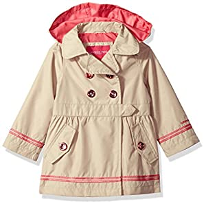 London Fog Little Girls' Her Li'l Trench Coat Jacket, Khaki, 6X