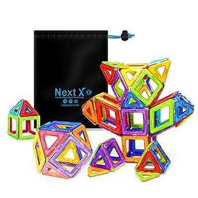 Nextx 64 Blocchi Magnetici Giocattolo Set Di 64 Pezzi Per Costruzioni 3d Puzzle Educativo Per Piccoli Ingegneri Regalo Perfetto Per Bambini 3 Anni