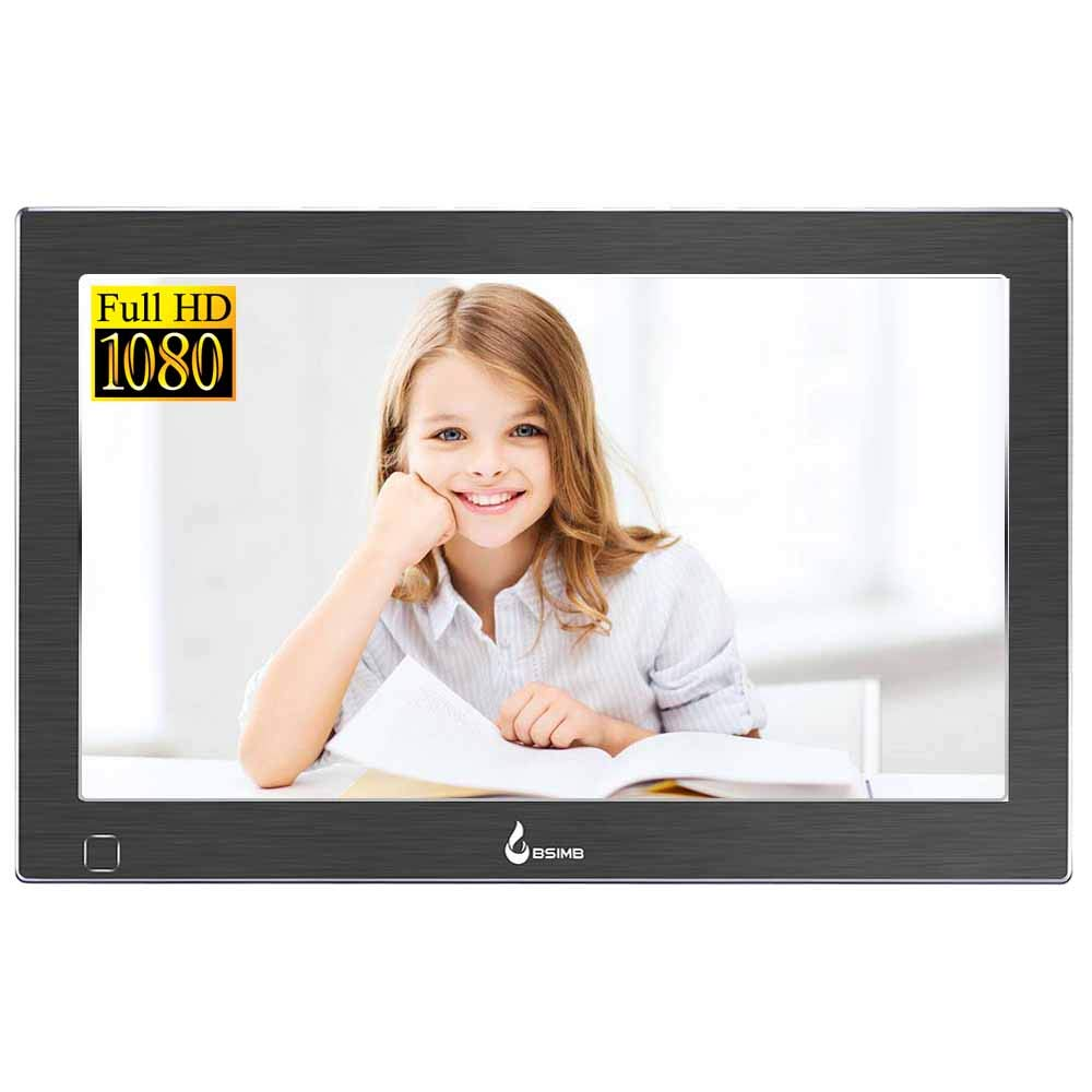 Bsimb Digital Picture Frame Digital Photo Frame 13.3 Inch IPS Display 1920x1080 Hi-Res Digital Photo and HD Video Frame and Motion Sensor USB/SD Card Playback Infrared Remote Control M14 by Bsimb (Image #1)