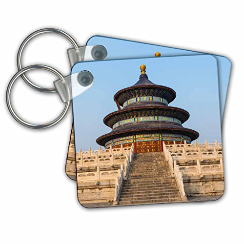 3dRose Temple of Heaven and Hall of Prayer for The Harvest, Beijing, China - Key Chains, 2.25