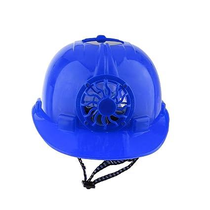 B Blesiya Casquillo de Seguridad Visera Completa Casco de Obra Industrial con Ventilador Color Azul