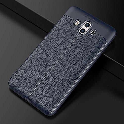 """Huawei Mate 10 (5.9"""") Hülle, MSVII® Anti-Shock Weich TPU Silikon Hülle Schutzhülle Case Und Displayschutzfolie für Huawei Mate 10 (5.9"""") - Blau JY90083"""