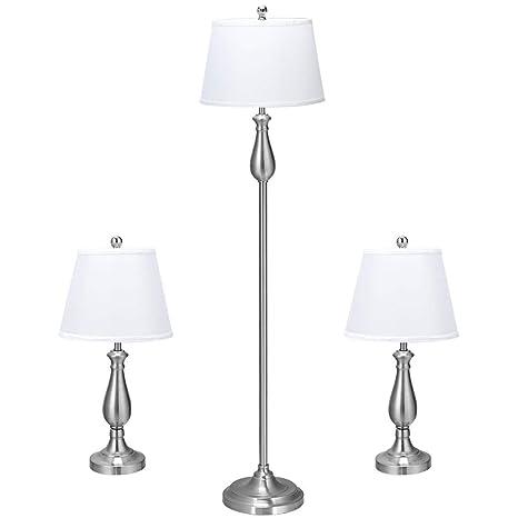 Amazon.com: Tangkula - Juego de 3 lámparas de pie y 2 ...