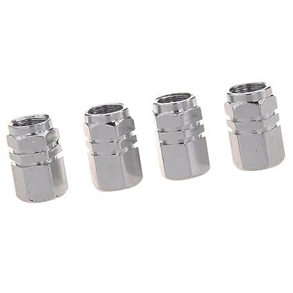 SODIAL(R) 4X Tapas de valvula de aire del vastago de llantas rueda neumatico
