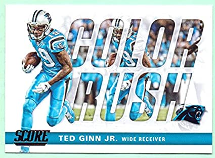 the latest a0285 485ca Ted Ginn Jr. 2017 Score Color Rush #12 - Carolina Panthers ...