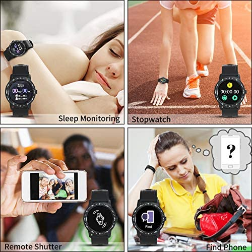 WAFA Smart Watch Fitness Tracker with Heart Rate Blood Pressure SpO2 Monitor IP68 Waterproof Sport Watch Calories Sleep Tracker Pedometer for Men Women Smartwatch Compatible with iPhone Android Phones 7