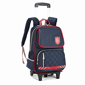 04657b95479c Amazon.com : HONGNA Children's Trolley Bag Backpack Two-wheel ...