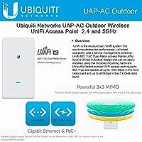 Ubiquiti UAP-AC Outdoor, UniFi AP AC Outdoor 11ac 1750Mpbs dual-band 600ft PoE+
